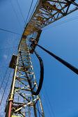 Drilling derrick — Stock Photo