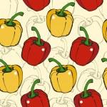 Pepper seamless pattern — Stock Vector