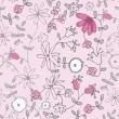 Pink little flower seamless pattern — Stock Vector #8580593