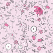 Pink little flower seamless pattern — Stock Vector