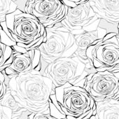 Vintage rose seamless vector pattern — Stock Vector