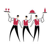 Waiter service — Stock Vector