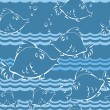 Sea fish seamless pattern - Stockvectorbeeld