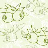 新鲜绿色橄榄色模式 — 图库矢量图片