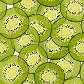Kiwi seamless pattern — Stock Vector