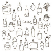 Bottles vector set — Stock Vector