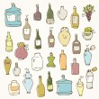 Royalty-Free Stock Imagen vectorial: Bottle set