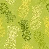 Pineapple pattern — Stock Vector
