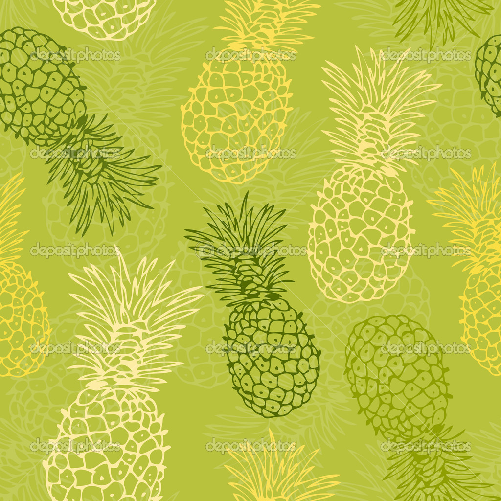 Pineapple pattern background - photo#19