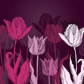 Vector background with tulips — 图库矢量图片