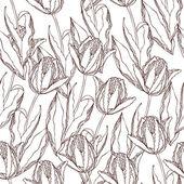 Vector tulips pattern — Stock Vector