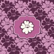 Purple floral pattern — Stock Vector
