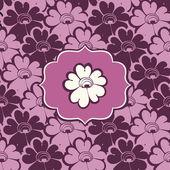 Patrón floral púrpura — Vector de stock