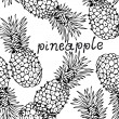 Royalty-Free Stock Vector Image: Pineapple background