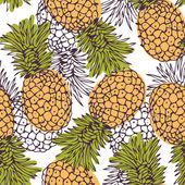 Pineapple background — Stock Vector