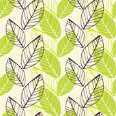 Leaf green spring pattern — Stock Vector