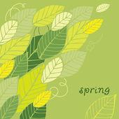 Frühling-blatt-karte — Stockvektor