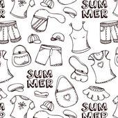 夏季海滩模式 — 图库矢量图片