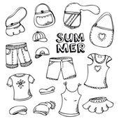 Summer fashion set — Stock Vector