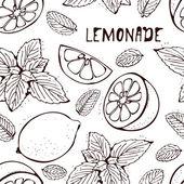 Lemonade vector pattern — Stock Vector
