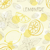 Lemonade seamless pattern — Stock Vector