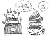 Vector dessert cakes — Stock Vector