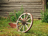 Wheel and plough — Stock Photo