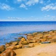 Sea rocky beach - Stock Photo