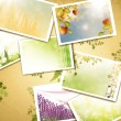 Vintage nature photos background - Stock Vector