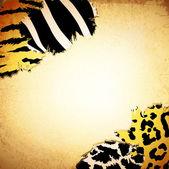 与一些动物复古背景打印 — 图库矢量图片