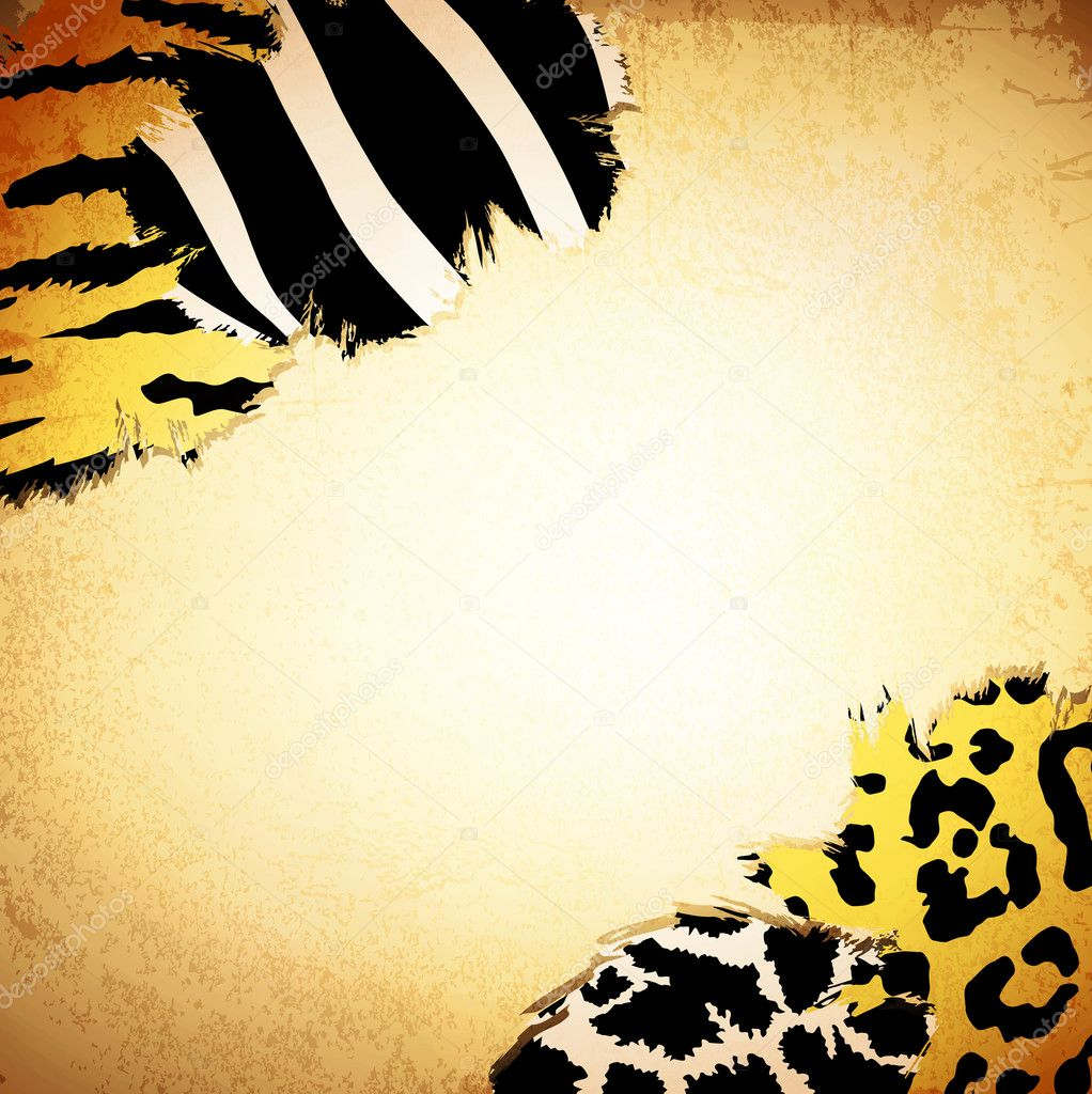 Vintage background with some animal print patterns, copyspace for your text — Stock Vector #9540344