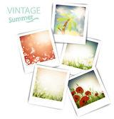 Vintage summer photos — Stock Vector
