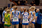 Rinat Gilyazutdinov, coach with team Dynamo(KZN) on timeout — Stock Photo