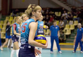 Evgeniya Kozhukhova. Spiker of Dynamo Moscow team — Stock Photo