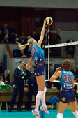 A. Matienko and E. Krivets. Volleybal team Dynamo(MSC) — Stock Photo