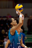 Natalia Goncharova. Spiker of Dynamo Moscow volleyball team — Stock Photo