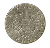 Old Austrian 10 Schilling coin. Revers. 1975. — Stock Photo