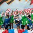 Ensemble of national dance Rodnichok — Stock Photo