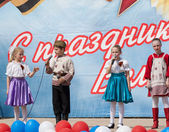Artists of ensemble of national dance Rosinochka — Stock Photo