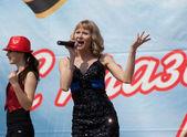 Veronika Dirakova singing — Stock Photo