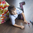 Stock Photo: Boy with toy
