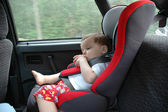 Sweet child in car — Stock Photo