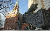 Cannon in Kremlin, Moscow — Stock Photo