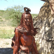 Himba woman. Native african peolple — Stock Photo