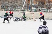 Lukashov`s memoriam game in Podolsk — Stock Photo