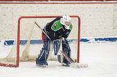 Goaltender of team Avangard Podolsk — Stock Photo