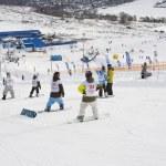 Snowboard sportsmen — Stock Photo #9246738