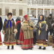 Folk chorus on Maslenitsa holiday — Stock Photo