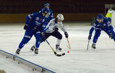 Bandy game Dynamo vs Baikal — Stockfoto