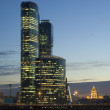 Moscow City skyscrapers at night — Stock Photo